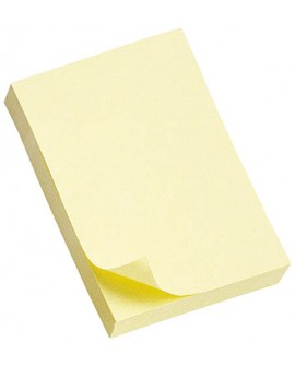 NOTES REPOSITIONNABLES JAUNE CLASSIQUE POST-IT 76 X 51 MM - BLOC DE 100 FEUILLES