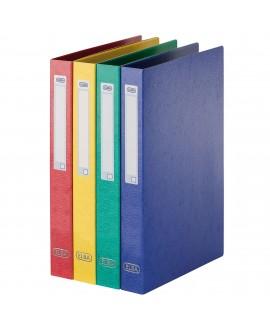 CLASSEUR 2 ANNEAUX CARTE LUSTRÉE      A4 - DOS 3,5 CM COULEURS ASS.