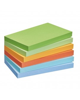 NOTES REPOSITIONNABLES COULEURS RECYCLÉES POST-IT 76 X 127 MM - BLOC DE 100 FEUILLES
