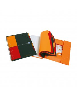 CAHIER SPIRALES  ORGANISERBOOK A4+ 24 X 32 CM - LIGNÉ 160 PAGES
