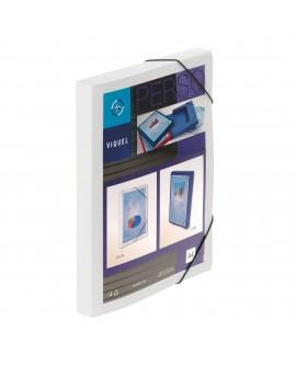 CHEMISE BOX PLASTIQUE PERSONNALISABLE  24 X 32 CM DOS 3 CM BLANCHE