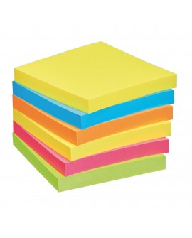 NOTES REPOSITIONNABLES COULEURS ENERGIE POST-IT 76 X 76 MM - BLOC DE 100 FEUILLESréf. 0114-27