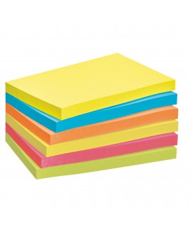 "NOTES REPOSITIONNABLES COULEURS ""ENERGIE"" POST-IT 76 X 127 MM - BLOC DE 100 FEUILLESréf. 0114-44"