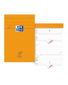 BLOC-NOTES MESSAGE TÉLÉPHONIQUE PRÉIMPRIMÉ  11 X 17 CM - 80 FEUILLESréf. 0118-23