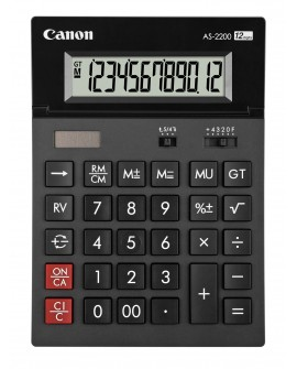 CALCULATRICE CANON AS-2200 - 12 CHIFFRESréf. 0118-66