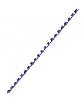 BAGUETTE RELIURE ANNEAUX PLASTIQUE 6 MM  COULEUR - BOÎTE DE 100réf. 0132-63