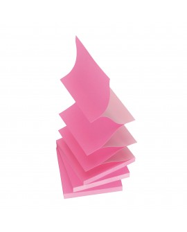 Z-NOTES ROSE NÉON / ROSE PASTEL POST-IT 76 X 76 MM - BLOC DE 100 FEUILLES  réf. 0160-29