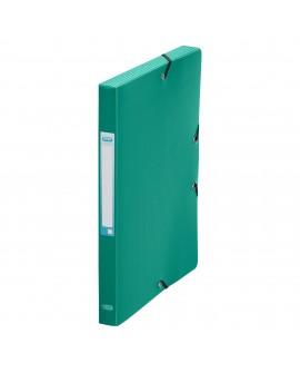 CHEMISE BOX PLASTIQUE  24 X 32 CM DOS 2,5 CM COULEURS CLASSIQUES ASSORTIESréf. 0195-59