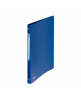 CLASSEUR 4 ANNEAUX PLASTIQUE   A4 - DOS 2 CM COULEURS OPAQUES CLASSIQUES ASSORTIES - réf. 0195-95