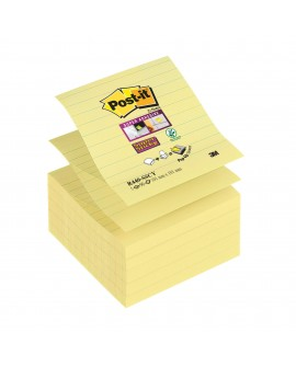 Z-NOTES JAUNES LIGNÉ POST-IT 101 X 101 MM - BLOC DE 90 FEUILLESréf. 0240-35