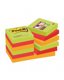 NOTES COULEURS  SUPER  POST-IT 46,7 X 46,7 MM - BLOC DE 90 FEUILLES  réf. 0242-27