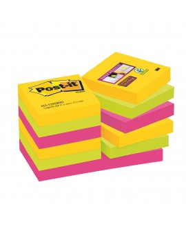 NOTES COULEURS RIO SUPER  POST-IT 46,7 X 46,7 MM - BLOC DE 90 FEUILLES  réf. 0244-76