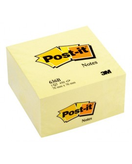 BLOC CUBE JAUNE POST-IT 76 X 76 MM - BLOC DE 450 FEUILLESréf. 0302-44