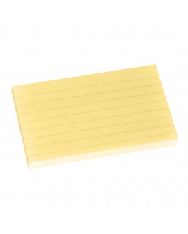 NOTES REPOSITIONNABLES JAUNE LIGNÉ POST-IT 76 X 127 MM - BLOC DE 100 FEUILLESréf. 0303-39