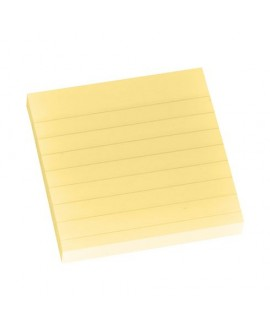 NOTES REPOSITIONNABLES JAUNE LIGNÉ POST-IT 76 X 76 MM - BLOC DE 100 FEUILLESréf. 0303-72
