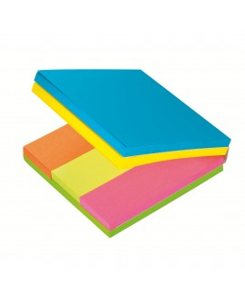 NOTES REPOSITIONNABLES MULTI-BLOC POST-IT 76 X 76 MM ET 25 X 76 MM - BLOC DE 300 FEUILLES -réf. 0309-77