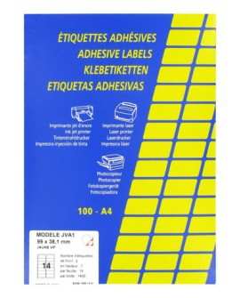 ETIQUETTE JET D'ENCRE ET LASER 99,1 X 38,1 MM COULEUR VIVE - BOÎTE DE 1400, réf. 0335-95
