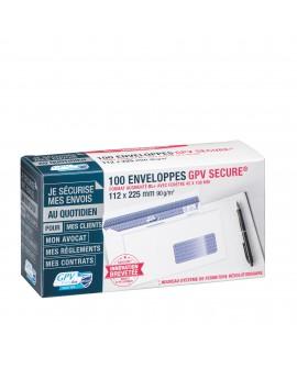 ENVELOPPE 112 X 225 MM SECURE GPV 90 G AVEC FENÊTRE 45 X 100 MM BLANCHE - BOÎTE DE 100  réf. 0411-60
