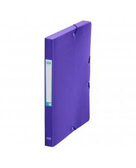 CHEMISE BOX PLASTIQUE  24 X 32 CM DOS 2,5 CM COULEURS MODE ASSORTIESréf. 0516-47