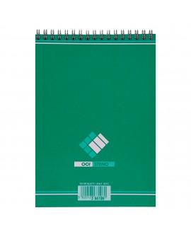BLOC STÉNO  OFFICE 14,8 X 21 CM SPIRALE - BLANC UNI - 90 PAGES réf. 0518-00