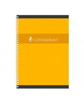 CAHIER SPIRALE CONQUÉRANT SEPT A4 21 X 29,7 CM PETITS CARREAUX 100 PAGESréf. 0518-10