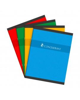 CAHIER PIQUÉ CONQUÉRANT SEPT 17 X 22 CM GRANDS CARREAUX 96 PAGESréf. 0518-12