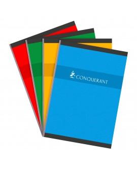 CAHIER BROCHÉ CONQUÉRANT SEPT A4 21 X 29,7 CM GRANDS CARREAUX 192 PAGESréf. 0518-13