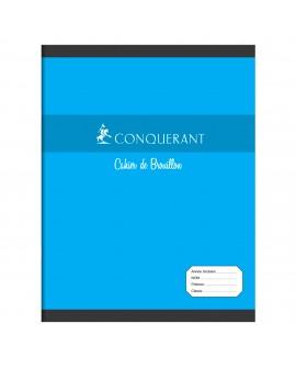 CAHIER PIQUÉ CONQUÉRANT SEPT 17 X 22 CM BROUILLON GRANDS CARREAUX 96 PAGESréf. 0518-60
