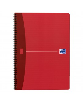 CAHIER SPIRALES  ESSENTIALS A4 21 X 29,7 CM GRANDS CARREAUX 100 PAGES - COULEURS ASSORTIES  réf. 0529-55