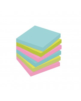 NOTES COULEURS  SUPER  POST-IT 46,7 X 46,7 MM - BLOC DE 90 FEUILLES  réf. 0541-80