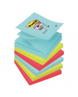 Z-NOTES COULEURS  SUPER  POST-IT 76 X 76 MM - BLOC DE 90 FEUILLES  réf. 0565-40