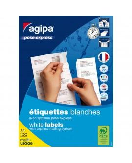 ETIQUETTE ADRESSE JET D'ENCRE ET LASER 105 X 37 MM  119012 BLANCHE - BOÎTE DE 1600  réf. 0571-96