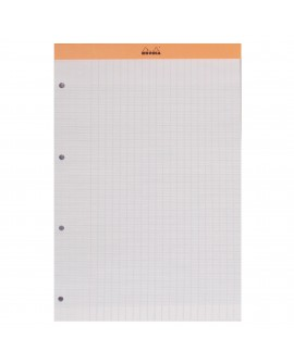 BLOC DE BUREAU  21 X 31,8 CM AGRAFÉ ORANGE N°20 - SEYES - 80 PAGES PERFORÉES  réf. 0626-93