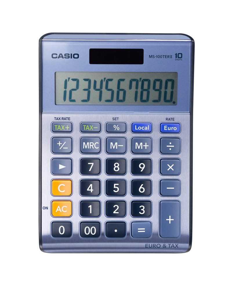 CALCULATRICE DE BUREAU CASIO MS-100 TER - 10 CHIFFRESréf. 0877-67