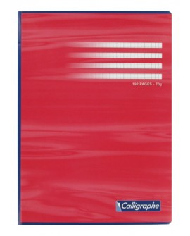 CAHIER BROCHÉ  A4 21 X 29,7 CM GRAND CARREAUX 192 PAGESréf. 0904-77