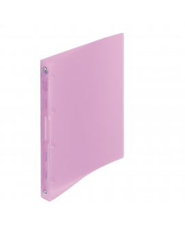 CLASSEUR 4 ANNEAUX PLASTIQUE  A4 - DOS 2,5 CM COULEURS PASTELS TRANSLUCIDES ASSORTIESréf. 0918-99