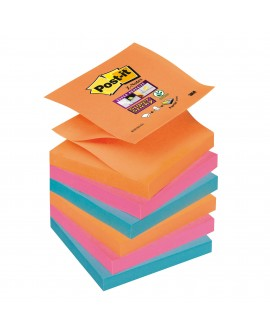 Z-NOTES COULEURS BANGKOK SUPER  POST-IT 76 X 76 MM - BLOC DE 90 FEUILLES  réf. 0933-51
