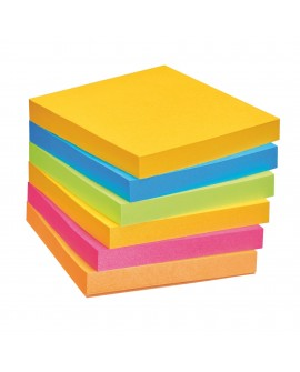 NOTES COULEURS RIO SUPER  POST-IT 76 X 76 MM - BLOC DE 90 FEUILLES  réf. 0933-55