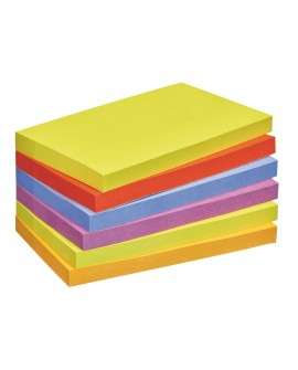 NOTES COULEURS  SUPER  POST-IT 76 X 127 MM - BLOC DE 90 FEUILLES  réf. 0933-58