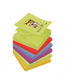 Z-NOTES COULEURS  SUPER  POST-IT 76 X76 MM - BLOC DE 90 FEUILLESréf. 0934-58