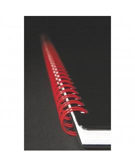 CAHIER SPIRALE  PROFESSIONNEL BLACK'N RED A4 21 X 29,7 CM - BLANC LIGNÉ - 140 PAGES  réf. 0942-62