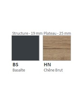 Plateau chêne brut/pied basalte
