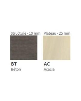 Plateau acacia/pied béton